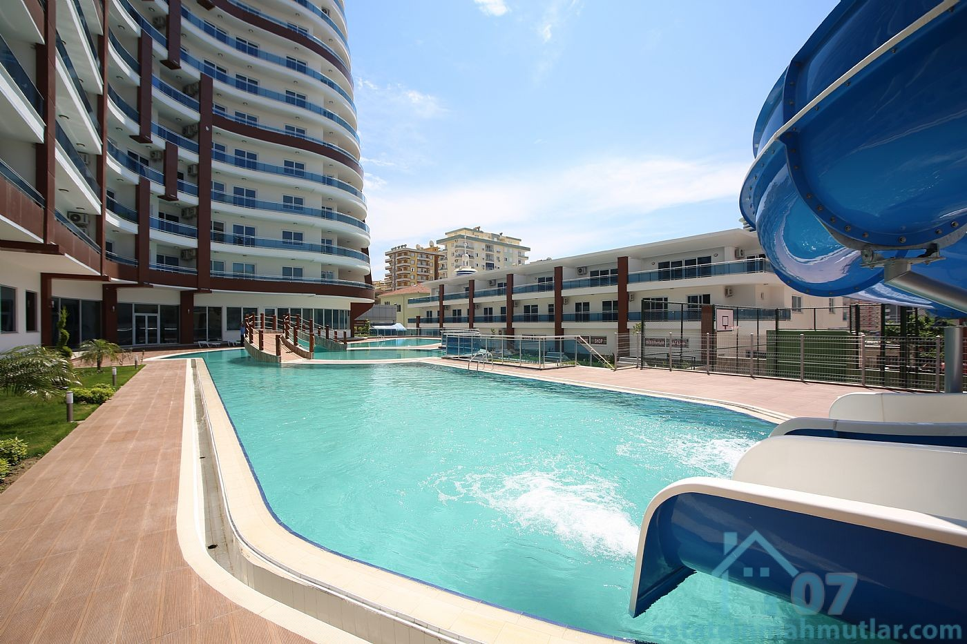 One bedroom Apt in a Modern Residential Complex of Luxury located on the shore of the Mediterranean Sea