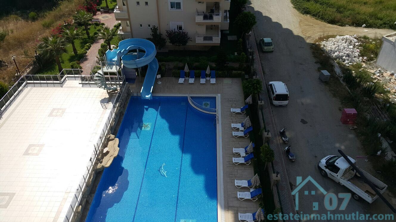 Beautiful Furnished two Bedroom Apartment with a Sea, Pool and City View in Mahmutlar Alanya