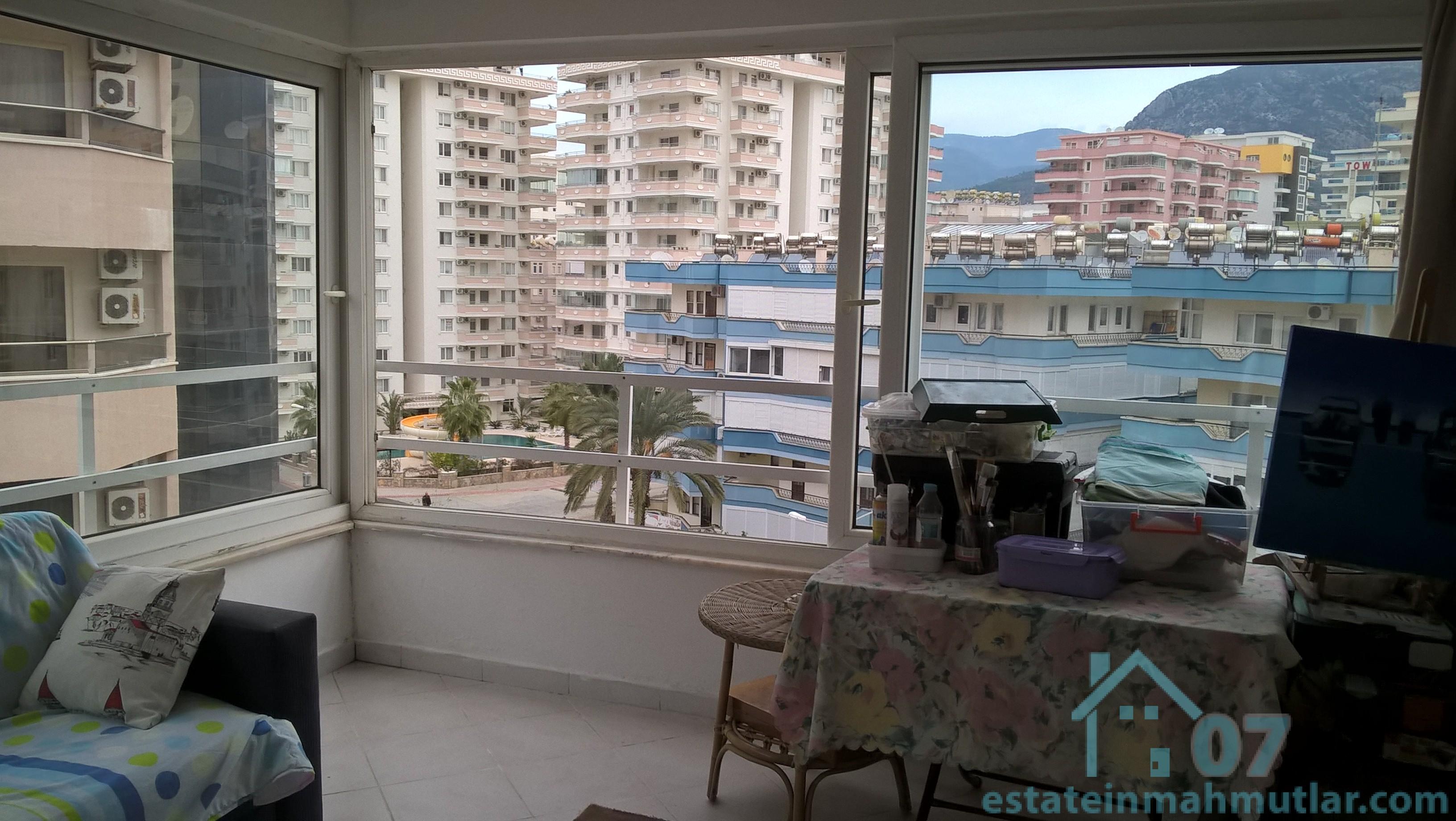 One Bedroom Seaside Apartment with a Private Beach in Mahmutlar, Alanya Antalya